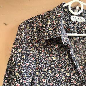 Anthropologie velvet graham spencer floral shirt